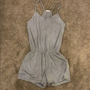 Stripped John Galt romper with pockets